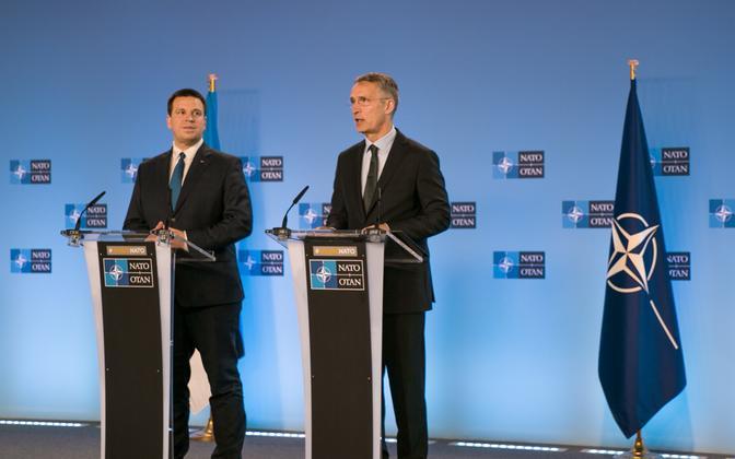 Prime Minister Jüri Ratas and NATO Secretary General Jens Stoltenberg.