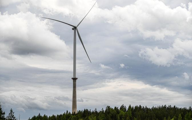 Wind turbine at Aidu wind farm.