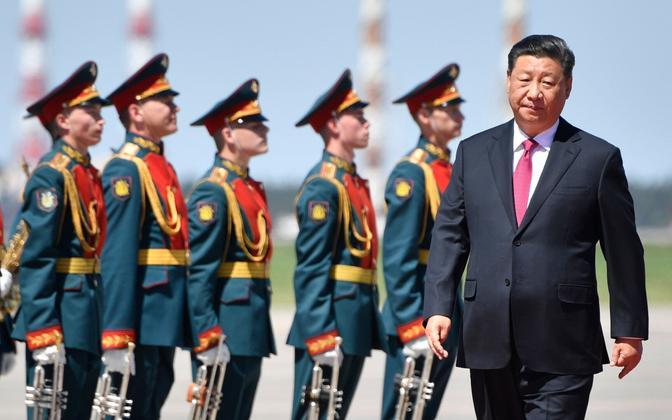 Hiina Rahvavabriigi juht Xi Jinping Vnukovo lennuväljal.