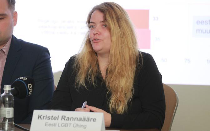 Estonian LGBT Association chairperson Kristel Rannaääre.