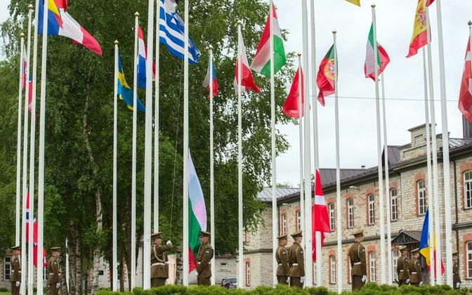 Several countries officially joined NATO's CCDCOE in Tallinn on Thursday. June 13, 2019.
