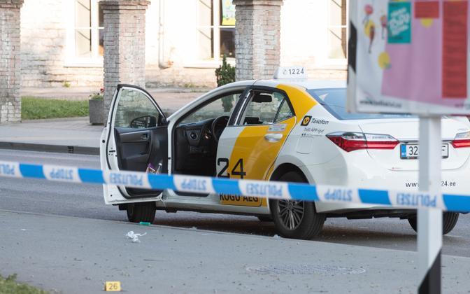 Scene of the June 21 fatal shooting in Tallinn.