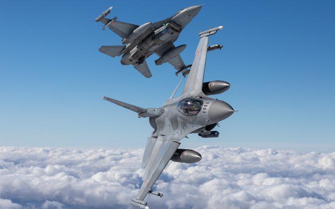 Polish F-16s. Photo is illustrative.