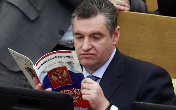 Venemaa riigiduuma välisasjade komitee esimees Leonid Slutski.