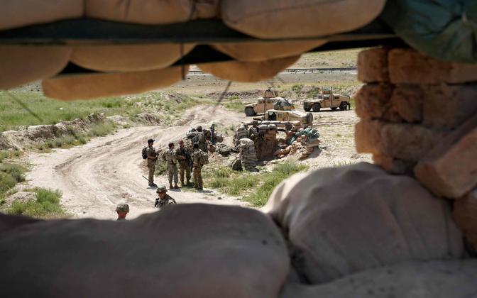 Vaade USA üksuste poistsioonile Afganistanis.