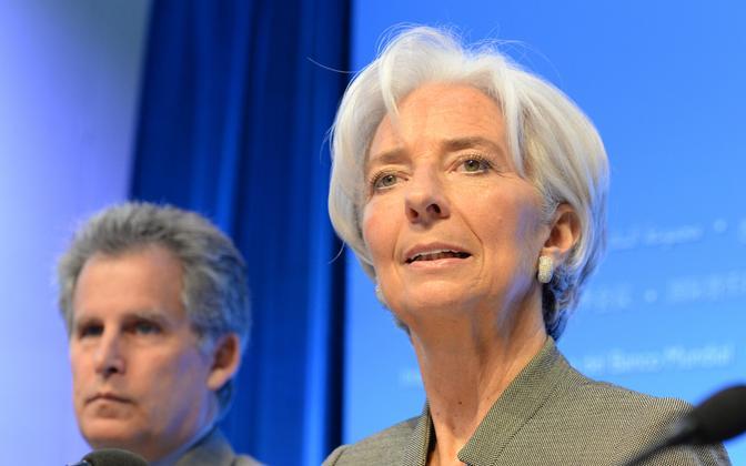 IMF-i juht Christine Lagarde, taustal tema asetäitja David Lipton.