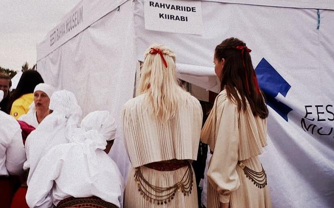 Folk costume first aid at Kalev Stadium, the site of the XX Dance Festival. June 5, 2019.