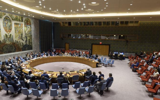 ÜRO Julgeolekunõukogu arutas teisipäeval Ukraina teemat