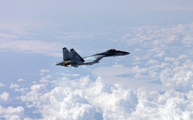 Soome õhuväe foto Vene sõjalennukist 15. juulil.
