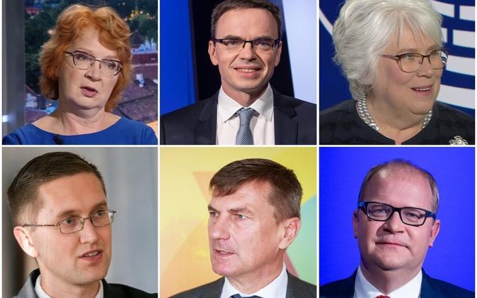 Eesti eurosaadikud: Yana Toom, Sven Mikser, Marina Kaljurand, Jaak Madison, Andrus Ansip ja Urmas Paet