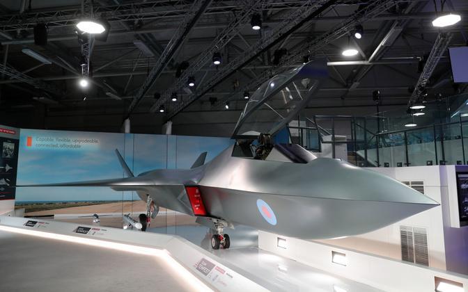 Hävituslennuki Tempest prototüüp Farnborough' lennumessil 2018. aastal.
