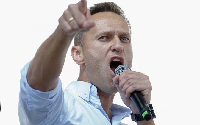Aleksei Navalnõi 20. juulil meeleavaldusel Moskvas.