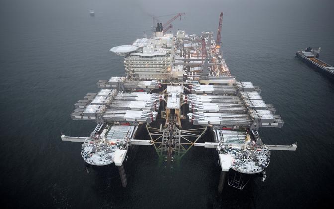 Nord Stream 2 ehitustööd möödunud aasta detsembris.