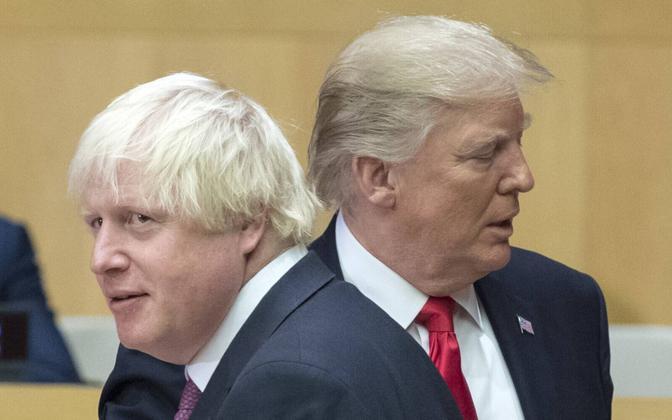Boris Johnson ja Donald Trump 2017. aastal.