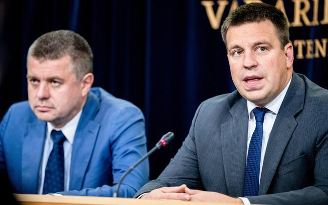 Foreign minister Urmas Reinsalu and prime minister Jüri Ratas