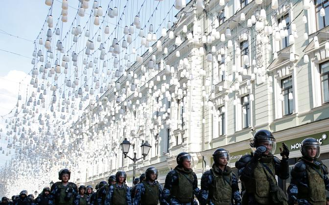 Märulipolitsei Moskvas.