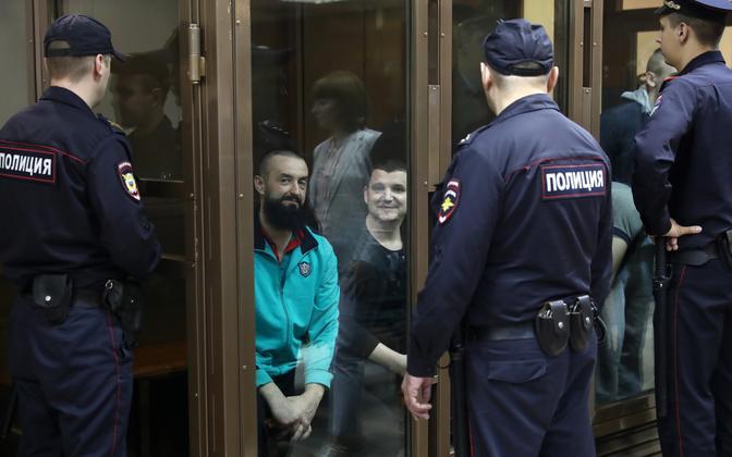 Ukraina meremehed Moskvas kohtusaalis.