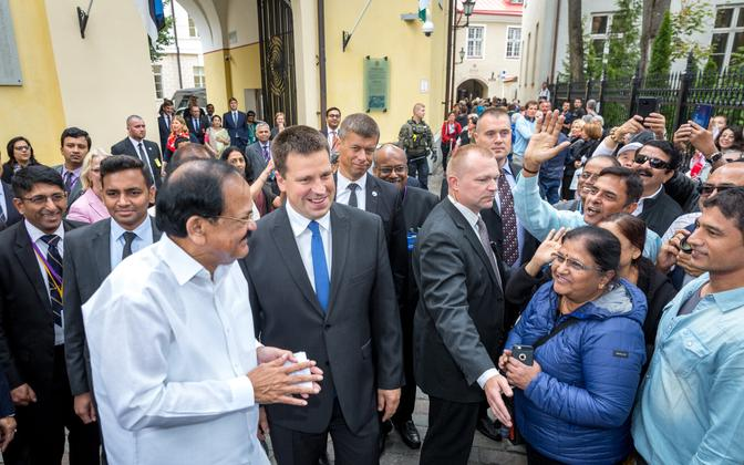 Визит вице-президента Индии Муппаварапу Венкайа Найду в Таллинн, август 2019 года.