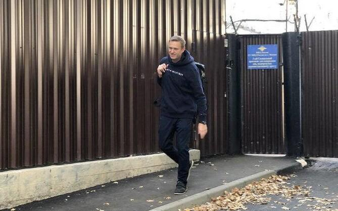 Navalnõi vanglast vabanemas.