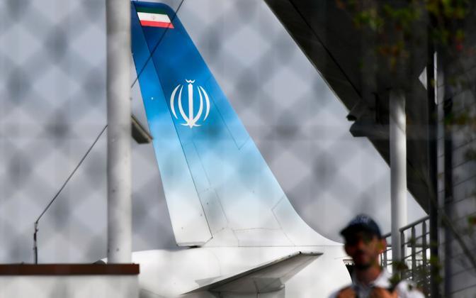 Iraani välisministri lennuk Biarritzi lennuväljal.