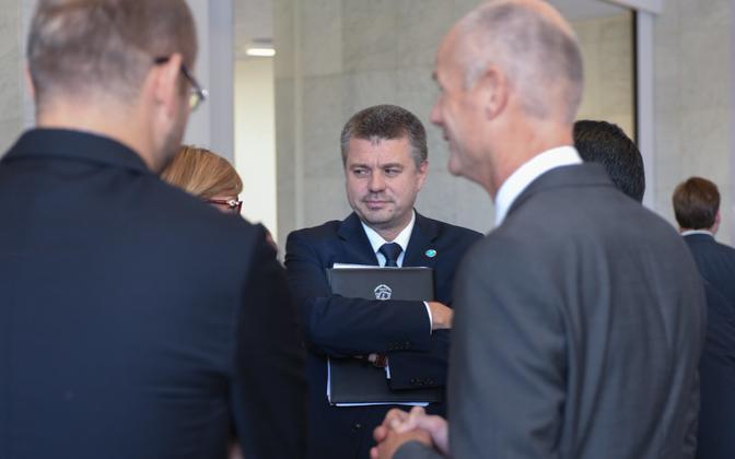 Foreign Minister Urmas Reinsalu at an informal meeting of European Union foreign ministers in Helsinki.