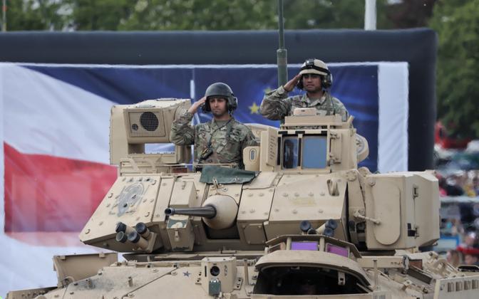 USA sõdurid paraadil Varssavis käesoleva aasta mais.