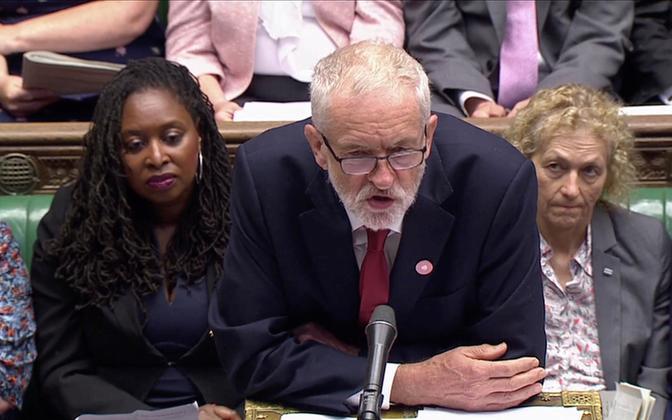 Briti opostsiooni juht leiboristide esimees Jeremy Corbyn.