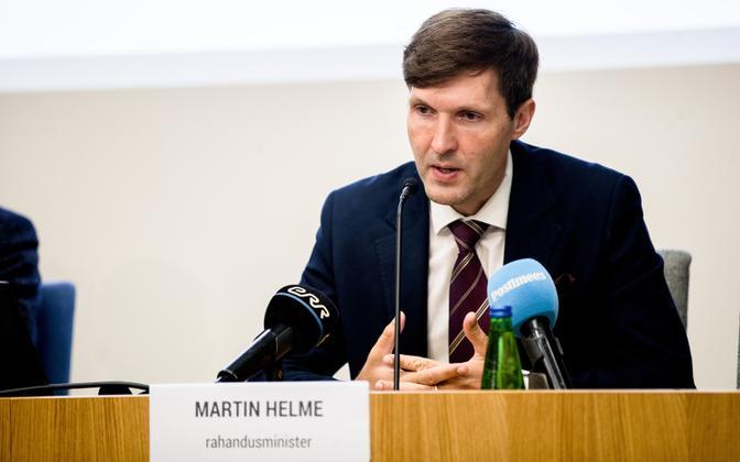 Minister of Finance Martin Helme (EKRE).