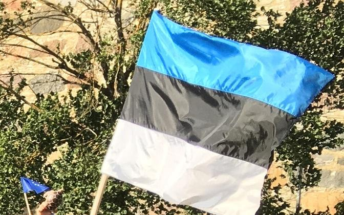 One thing both of Saturday's protests would've had in common is Estonian flags.