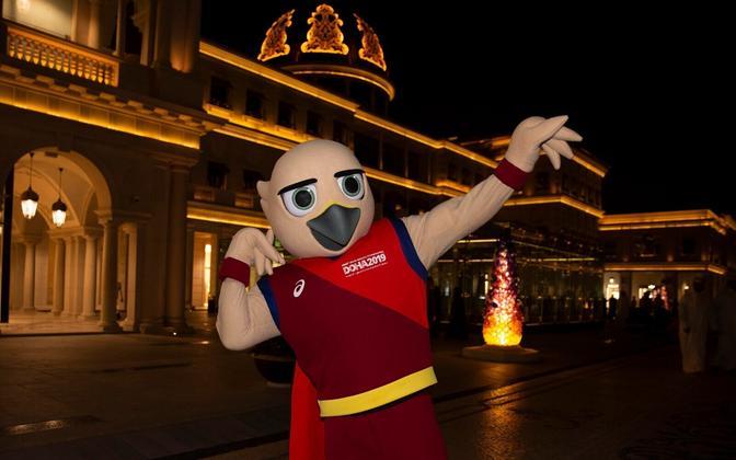 Doha kergejõustiku MM-i maskotiks on pistrik Falah.