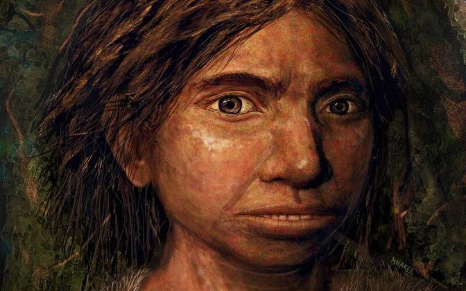 DNA põhjal valminud denisi tüdruku näo rekonstruktsioon.