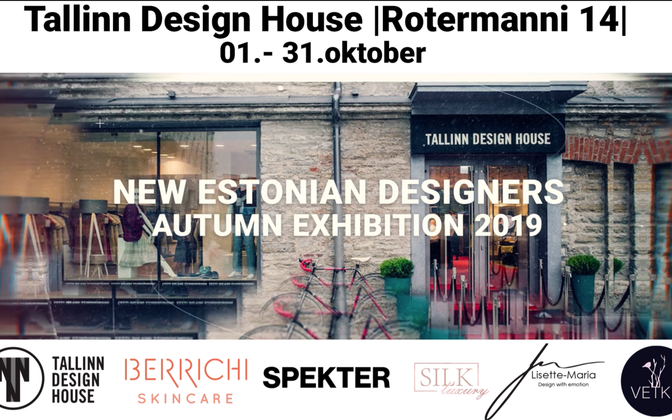 An exhibition of new Estonian design will be hosted at Tallinn Design House all through October.