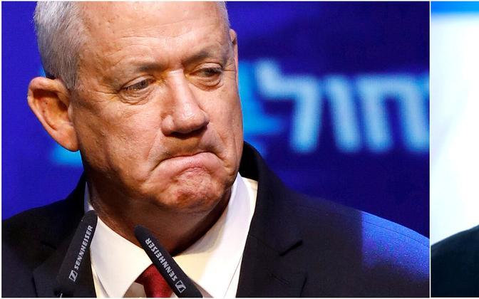 Benny Gantz ja Benjamin Netanyahu.