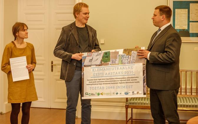 PM Jüri Ratas receives