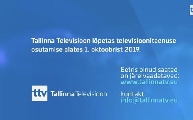 Tallinn TV stopped broadcasting on Oct. 1.