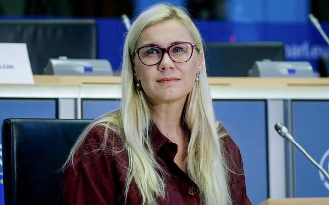 Kadri Simson in the European Parliament.