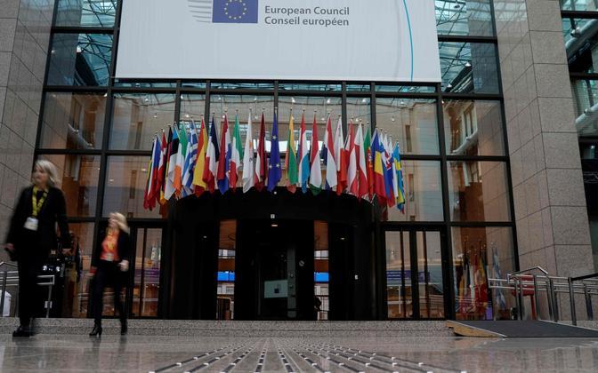 Euroopa Ülemkogu Brüsselis.