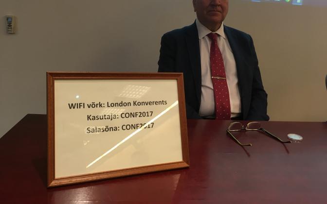 Mart Helme at EKRE's council meeting in Tartu on Saturday.