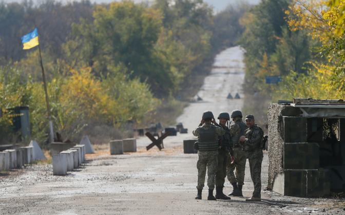 Ukraina sõdurid Zolote lähistel, arhiivifoto.