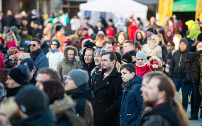 Inimesed Tallinnas.