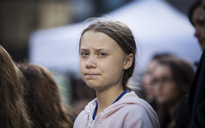 Kliimaaktivist Greta Thunberg Vancouveris 25. oktoobril.