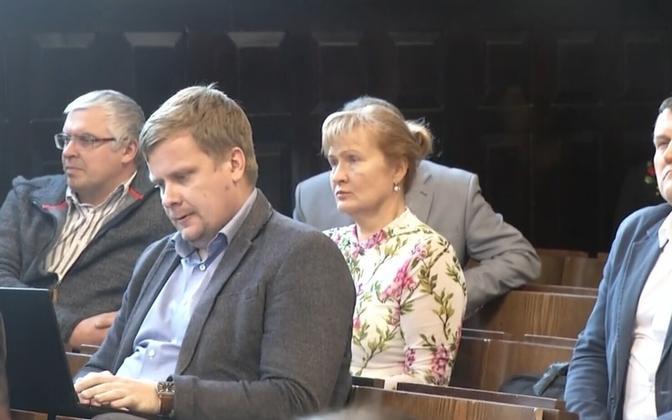 Members of Pärnu City Council, among them Helle Kullerkupp (EKRE).
