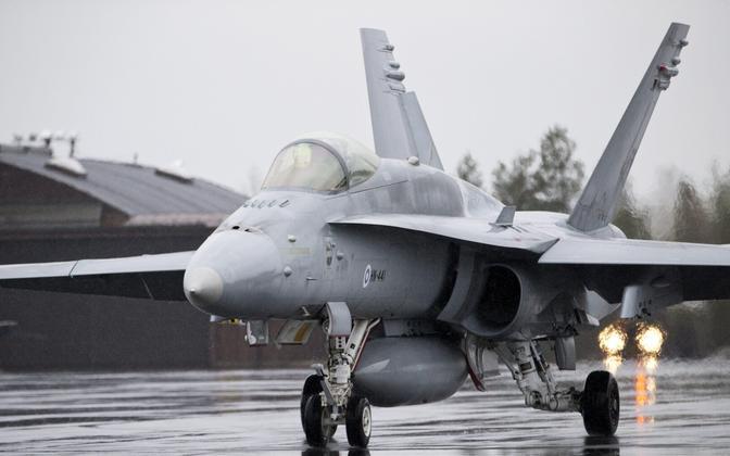 Soome õhuväe F/A-18 Hornet.