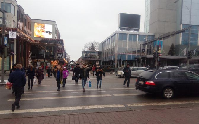 A power outage in Central Tartu in 2017.