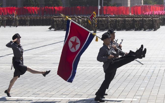 Paraad Põhja-Koreas.