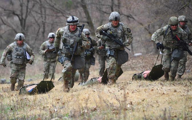 USA sõdurid õppusel Lõuna-Koreas.