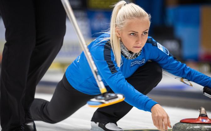 Estonian women's curling team captain Marie Turmann.