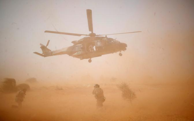 An NH90 Caiman helicopter takes off Operation Barkhane in Mali. Photo is illustrative.