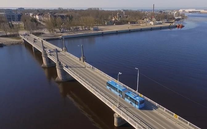 Pärnu city center bridge.