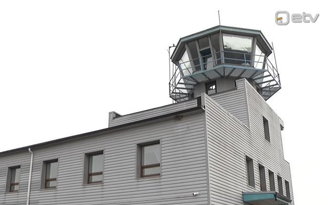 Pärnu Airport control tower.